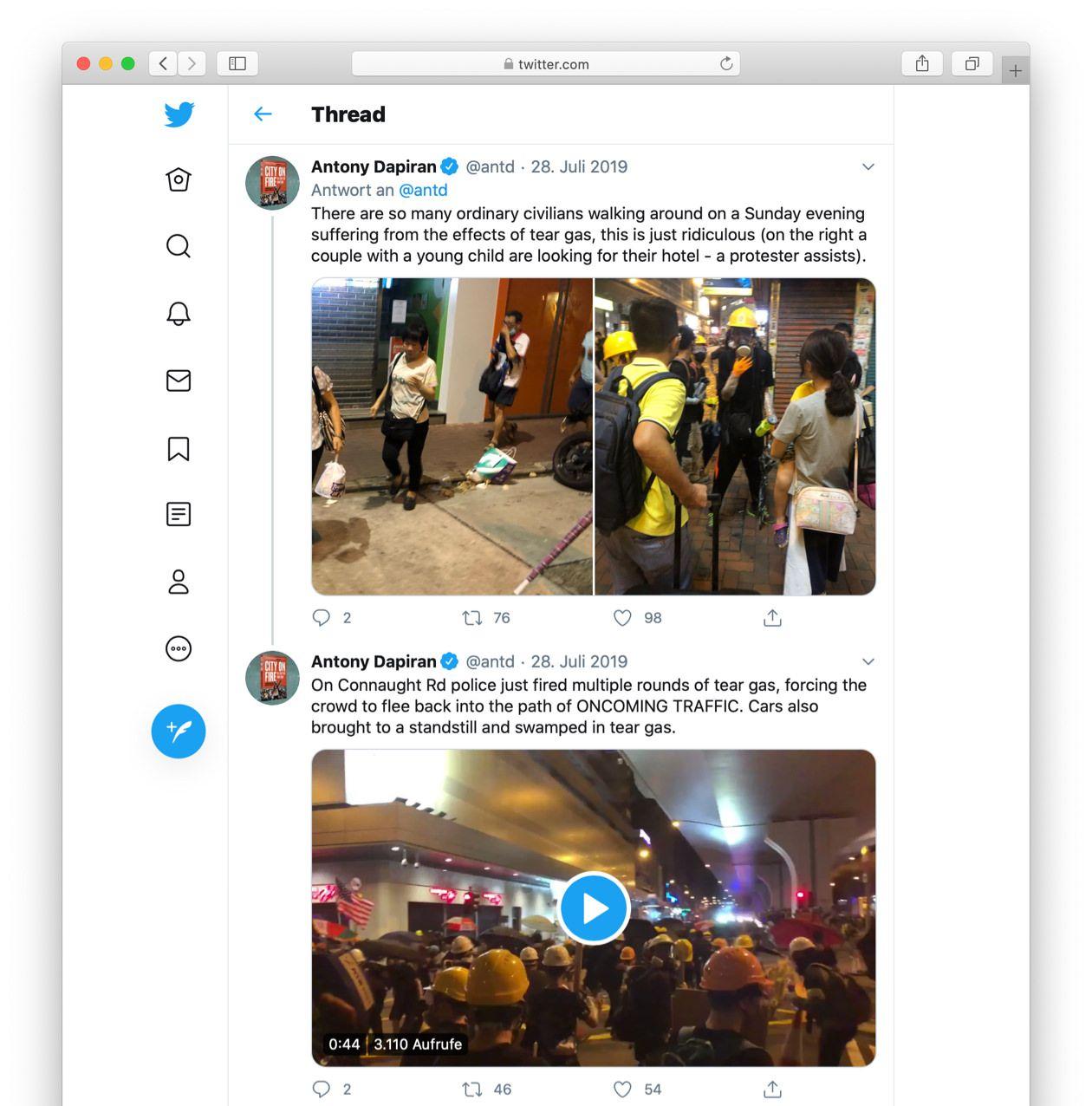 Screenshot of a Twitter thread