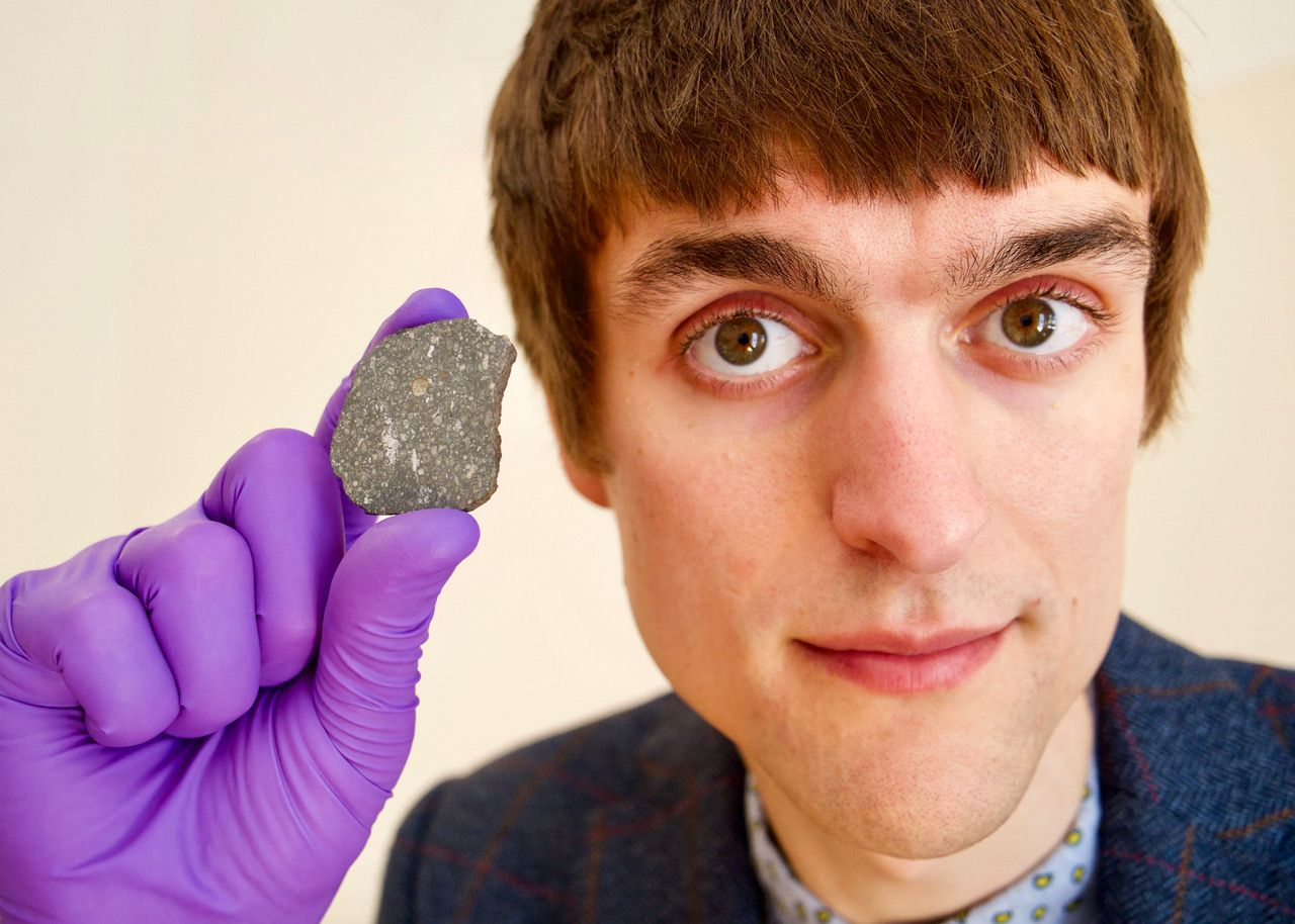 Combines his love for rocks with his love for space in the form of meteorites: Tim Gregory