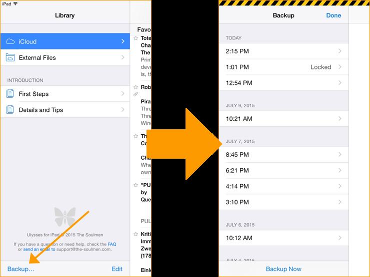 Backups on iPad