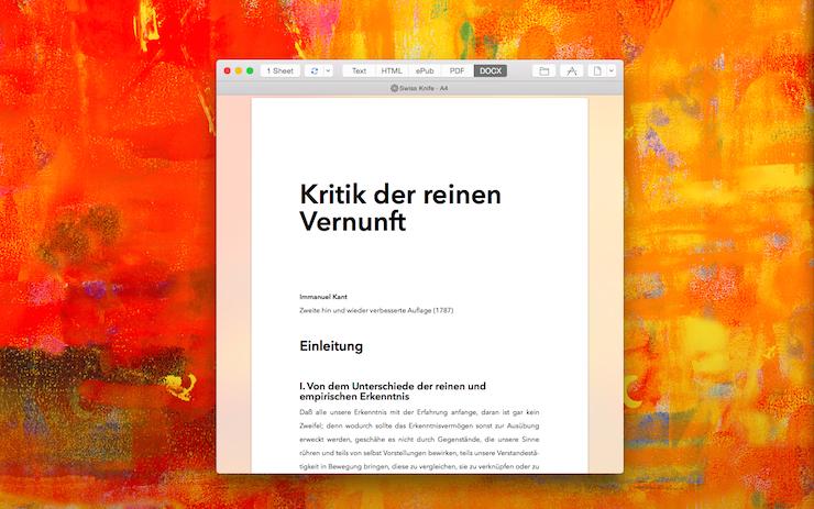 DOCX Exporter Mac