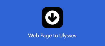 Web Page to Ulysses