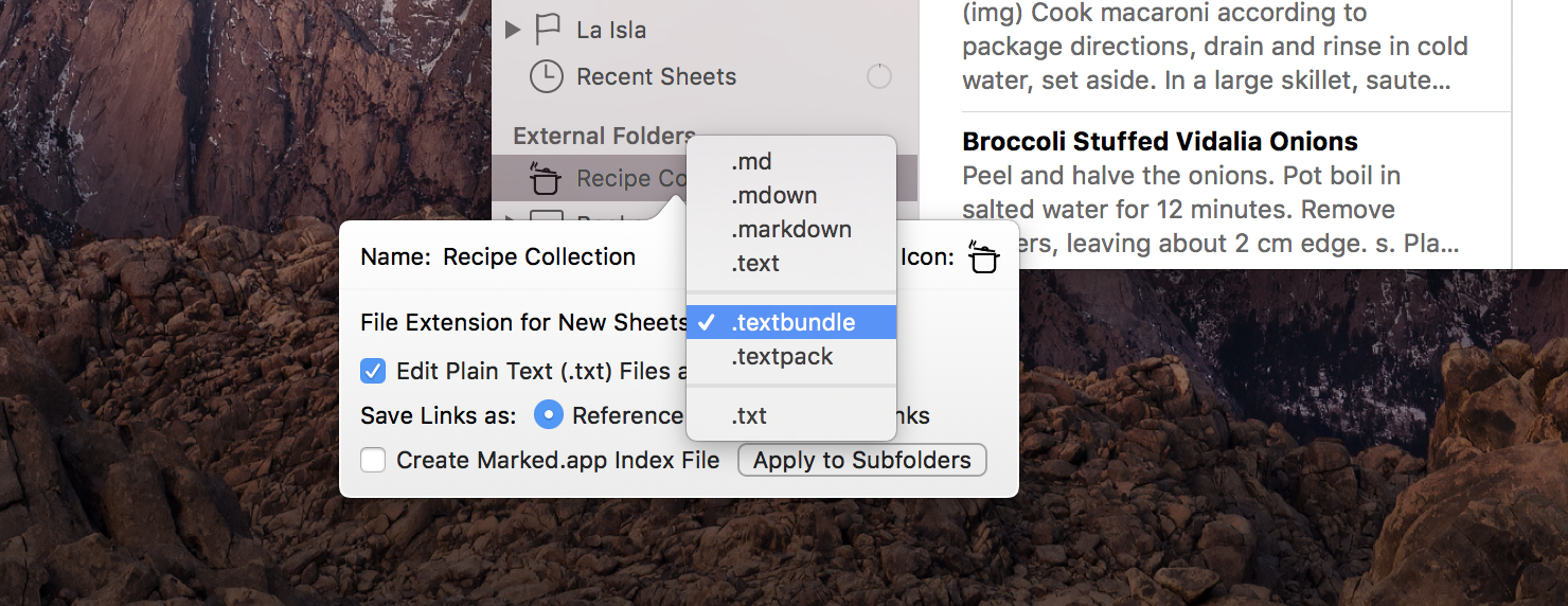 Setting the File Extension for New Sheets on Mac