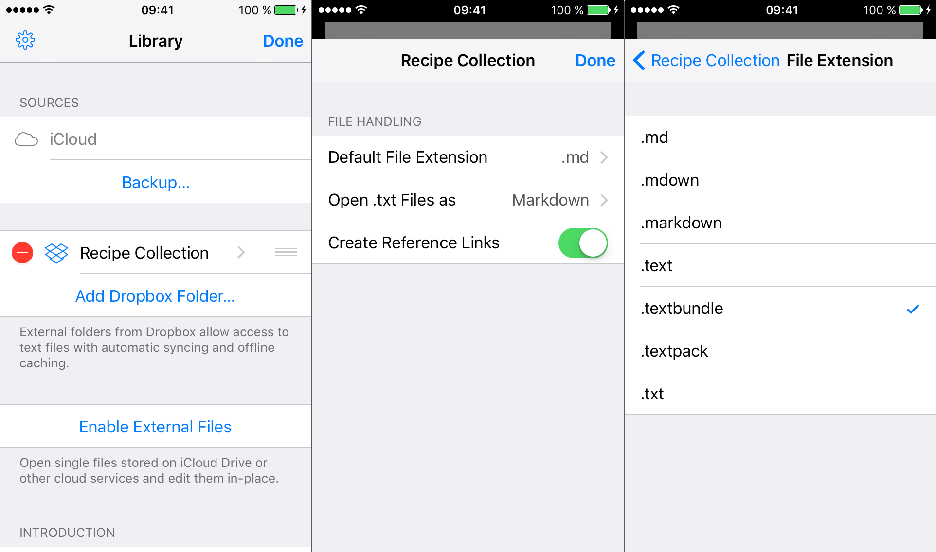Setting the File Extension for New Sheets on iOS