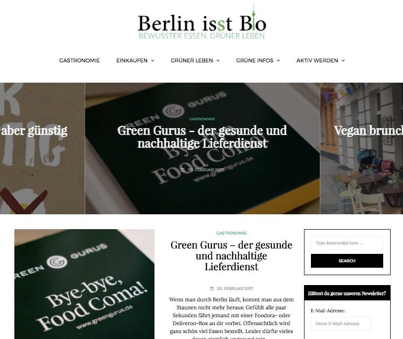 "Patrick owns the popular German blog ""Berlin is(s)t Bio"""