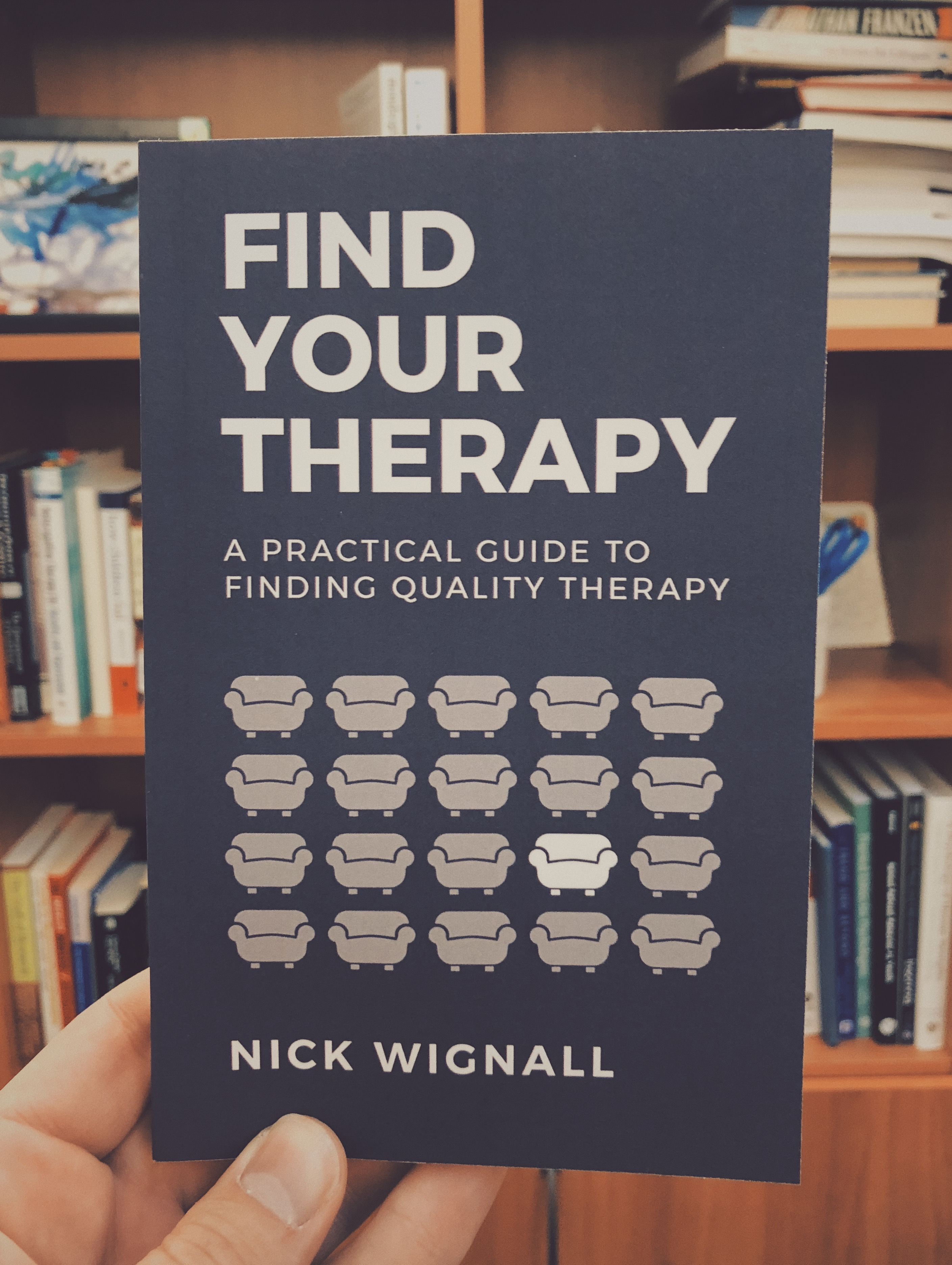 """Find Your Therapy"" Book Cover"